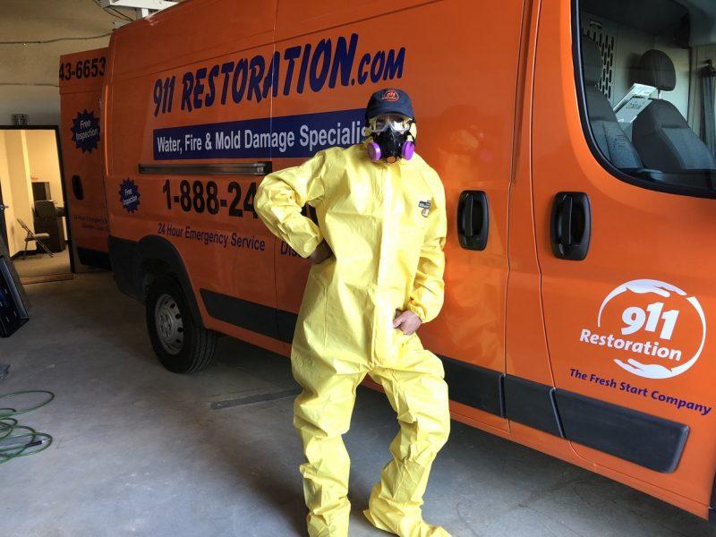 A 911 Restoration Team Member