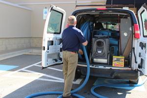 Sewage Restoration Van-and-equipment