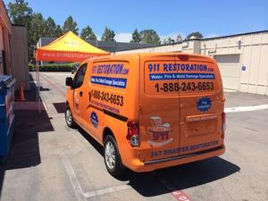 Water Damage Restoration Van at our Headquarters