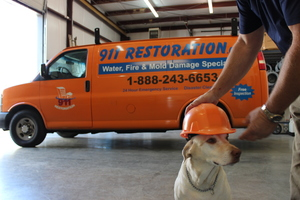 911 Restoration Doggy at the Westchester Headquarters