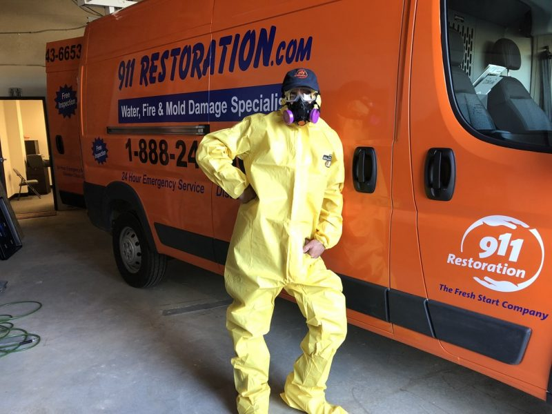 hazmat-suit-911-restoration-van-water-damage-repair